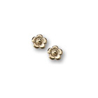Gold Flower Earrings for Girls - 14K Yellow Gold Screw Back Earrings for Baby, Toddler, Child