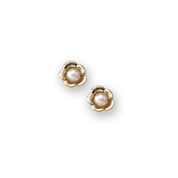 Flower Girl Earrings - 14K Gold