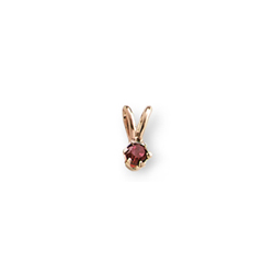 Little Girls Birthstone Necklaces - January Birthstone - 14K Yellow Gold Genuine Garnet Gemstone 3mm - Includes a 15