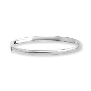 Fine Toddler Bracelets - 14K White Gold Baby, Toddler Bangle Bracelet - Size 5.25""