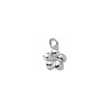 Rembrandt Sterling Silver Plumeria Charm (Flower) – Add to a bracelet or necklace