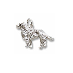 Rembrandt Sterling Silver Golden Retriever Charm – Add to a bracelet or necklace/