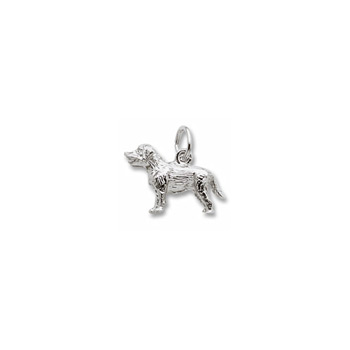Rembrandt Sterling Silver Labrador Retriever Charm – Add to a bracelet or necklace