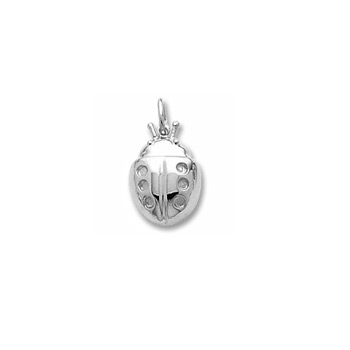 Rembrandt Sterling Silver Ladybug Charm (Large) – Add to a bracelet or necklace - BEST SELLER