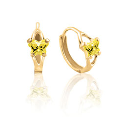 Children's Huggie Hoop Earrings  - 14K Yellow Gold – November/