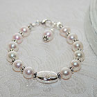 Sophisticated Baby - Personalized Baby Bracelet - Cultured Pearl