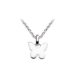 Girl's Adorable Sterling Silver Butterfly Pendant/