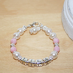 Abby Rose - Baby / Kids Pearl Name Bracelet/