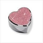 Ella - Pink Glitter Heart Engravable Silver-Plated Jewelry Box - BEST SELLER
