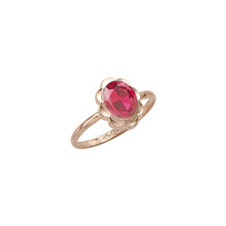 Girl's Birthstone Rings - 10K Yellow Gold Girls Synthetic Tourmaline Birthstone Ring - Size 5 1/2 - Perfect for Grade School Girls, Tweens, or Teens/