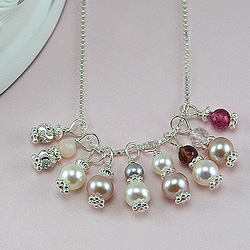 Sterling Silver Genuine Gemstone Birthstone Charms - Add to any bracelet or necklace/