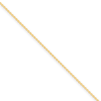 "10"" 14K Yellow Gold Cable Chain - 1.50mm Link Width - Newborn to 6 weeks - Worn while supervised for photos only"