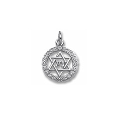 Rembrandt 14K White Gold Star of David Charm – Add to a bracelet or necklace/