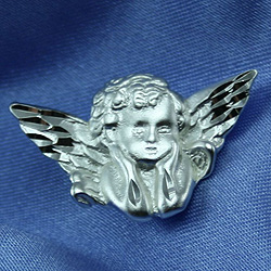 Cherub (Baby Angel) - Sterling Silver Christening / Baptism / First Communion Pin/