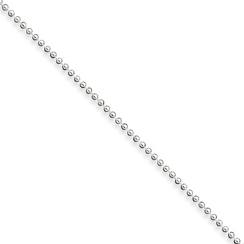 "10"" Sterling Silver Ball Chain - 1.50mm width - Newborn to 6 weeks - Worn while supervised for photos only"