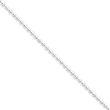 "18"" Sterling Silver Ball Chain - 2.00mm width - 16 years to Adult"