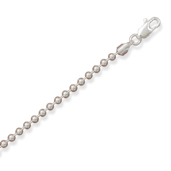 "24"" Sterling Silver Ball Chain - 3.00mm width - 16 years to Adult"