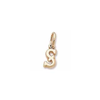 Rembrandt 14K Yellow Gold Tiny Initial S Charm – Add to a bracelet or necklace - BEST SELLER