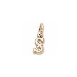 Rembrandt 14K Yellow Gold Tiny Initial S Charm – Add to a bracelet or necklace - BEST SELLER/