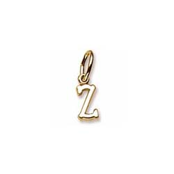 Rembrandt 14K Yellow Gold Tiny Initial Z Charm – Add to a bracelet or necklace - BEST SELLER/