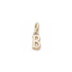 Rembrandt 10K Yellow Gold Tiny Initial B Charm – Add to a bracelet or necklace/
