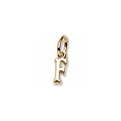 Rembrandt 10K Yellow Gold TIny Initial F Charm – Add to a bracelet or necklace/