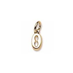 Rembrandt 10K Yellow Gold Tiny Initial O Charm – Add to a bracelet or necklace/