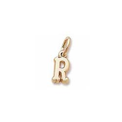 Rembrandt 10K Yellow Gold Tiny Initial R Charm – Add to a bracelet or necklace/