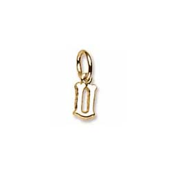 Rembrandt 10K Yellow Gold Tiny Initial U Charm – Add to a bracelet or necklace/