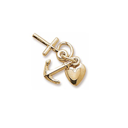 Rembrandt 10K Yellow Gold Faith, Hope, Charity Charm (Small - Three Pieces) – Add to a bracelet or necklace - BEST SELLER/