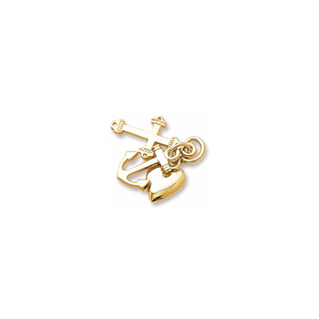 Rembrandt 14K Yellow Gold Faith, Hope, and Charity Charm (Medium - Three Pieces) – Add to a bracelet or necklace