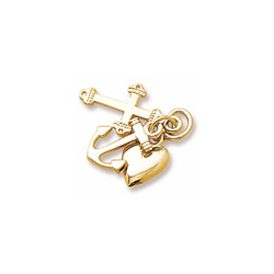 Rembrandt 10K Yellow Gold Faith, Hope, and Charity Charm (Medium - Three Pieces) – Add to a bracelet or necklace/
