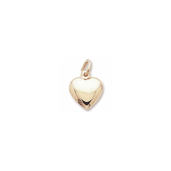 Rembrandt 14K Yellow Gold Small Heart Charm – Add to a bracelet or necklace