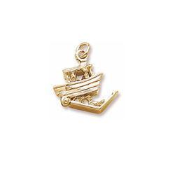 Rembrandt 14K Yellow Gold Noah's Ark Charm – Add to a bracelet or necklace/
