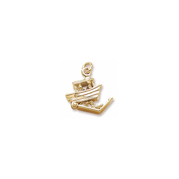 Rembrandt 10K Yellow Gold Noah's Ark Charm – Add to a bracelet or necklace
