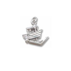 Rembrandt 14K White Gold Noah's Ark Charm – Add to a bracelet or necklace/
