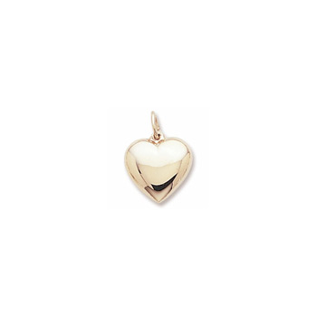 Rembrandt 10K Yellow Gold Medium Heart Charm – Add to a bracelet or necklace