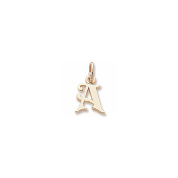 Rembrandt 14K Yellow Gold Small Initial A Charm – Add to a bracelet or necklace