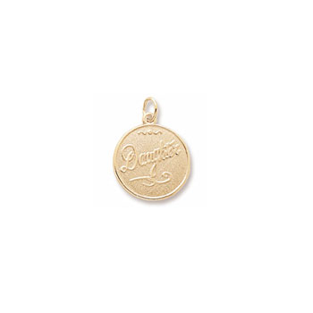 Rembrandt 10K Yellow Gold Daughter Charm – Engravable on back - Add to a bracelet or necklace