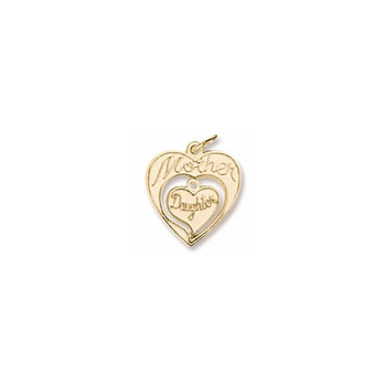 Rembrandt 10K Yellow Gold Mother Daughter Charm – Add to a bracelet or necklace