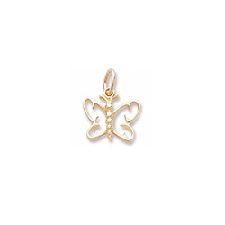 Rembrandt 10K Yellow Gold Small Butterfly Charm – Add to a bracelet or necklace/