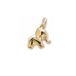 Rembrandt 10K Yellow Gold Elephant Charm – Add to a bracelet or necklace/