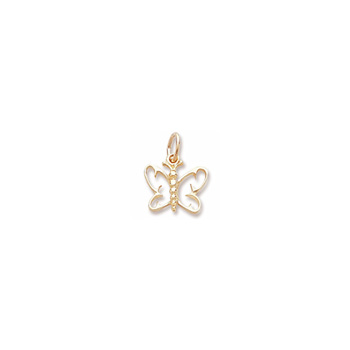 Rembrandt 14K Yellow Gold Small Butterfly Charm – Add to a bracelet or necklace