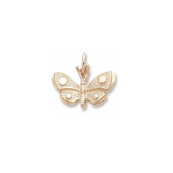 Rembrandt 10K Yellow Gold Butterfly Charm – Add to a bracelet or necklace - BEST SELLER/