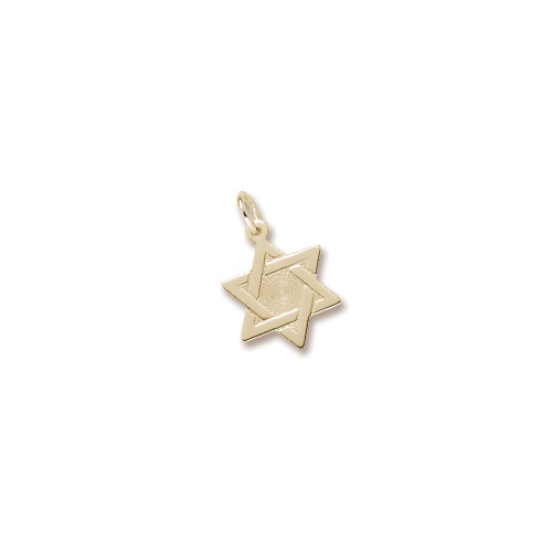 Star of David - Charm 10K Yellow Gold – Add to a bracelet or necklace