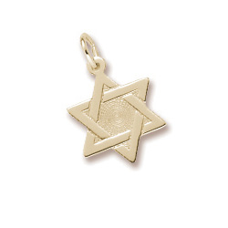 Star of David - Charm 10K Yellow Gold – Add to a bracelet or necklace/