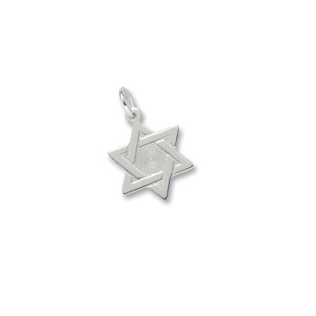 Rembrandt Sterling Silver Star of David Charm – Engravable on back - Add to a bracelet or necklace