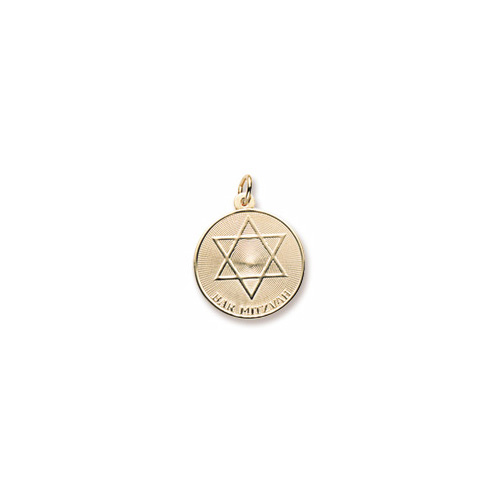 Bar Mitzvah Charm for Him – 10K Yellow Gold – Add to a bracelet or necklace