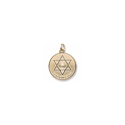 Bat Mitzvah Charm for Her – 10K Yellow Gold – Add to a bracelet or necklace