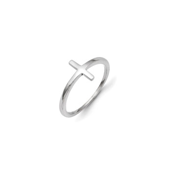 Sideways Cross Ring - Size 5 1/2
